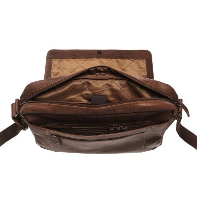 Photo of Leather Shoulder Bag Brown Chen