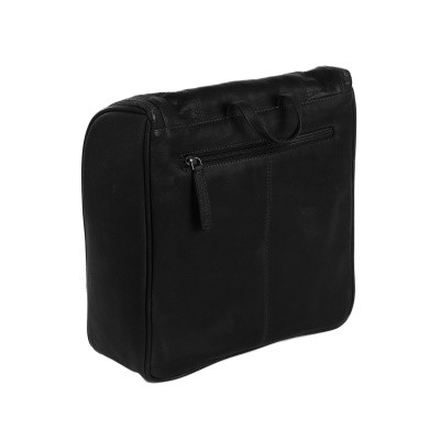 Photo of Leather Toiletry Bag Black Basel