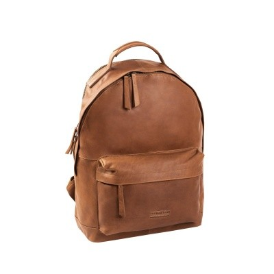Leather Backpack T5 Cognac Thomas Hayo
