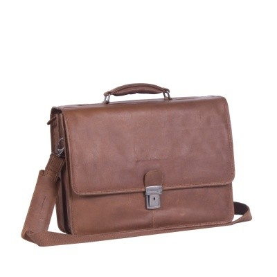 Leather Laptop Bag Cognac Shay