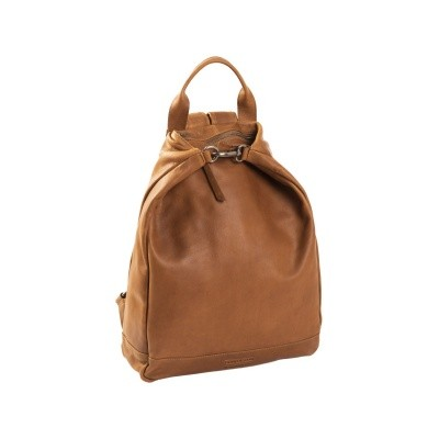 Leather Backpack T6 Cognac Thomas Hayo