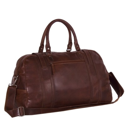 Photo of Leather Travelbag Dark Cognac Avan