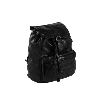 Leather Backpack Black Jace