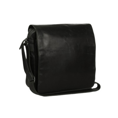 Leather Shoulder Bag Black Derby