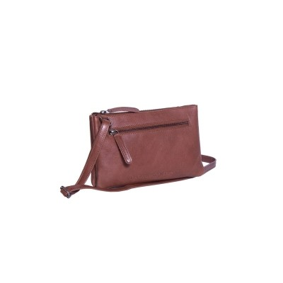 Leather Shoulder Bag Cognac Nia