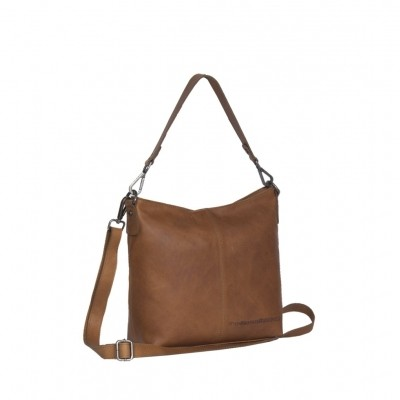 Leather Shoulder Bag Cognac Jen