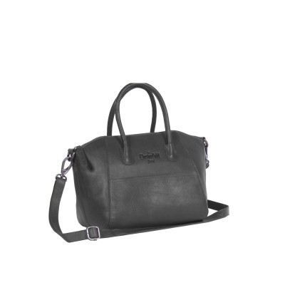 Leather Shoulder Bag Black Alexa