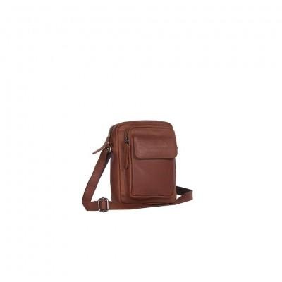 Leather Shoulder Bag Cognac Jeff