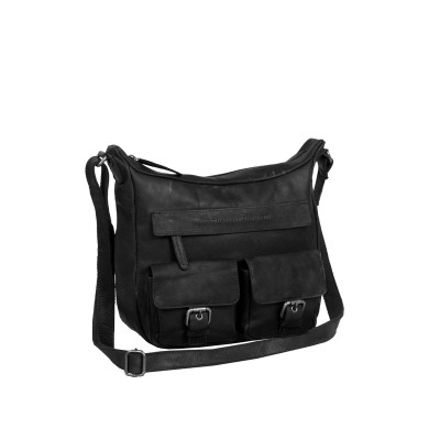 Photo of Leather Shoulder Bag Black Monica