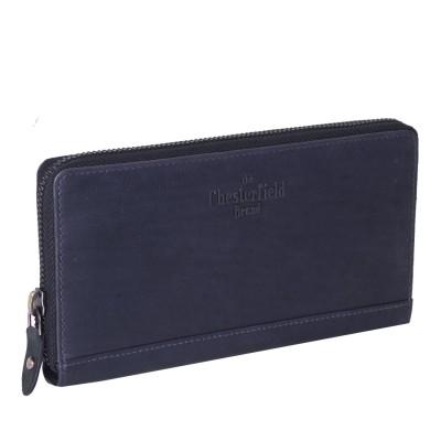 Leather Wallet Navy Nova