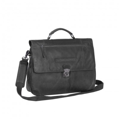 Photo of Leather Briefcase Black Matthew