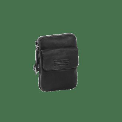 Photo of Leather Shoulder Bag T11 Black Thomas Hayo