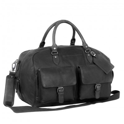 Leather Weekend Bag Black Wesley