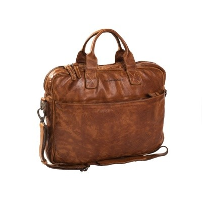 Leather Laptop Bag Cognac Antwerp