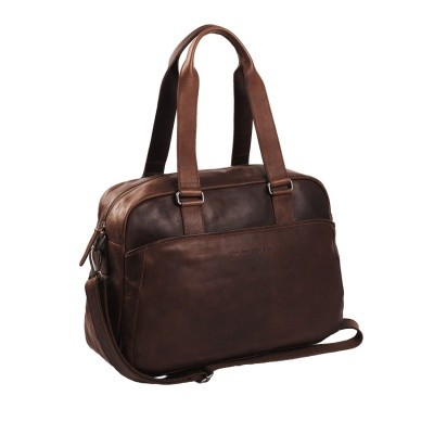 Leather Shoulder Bag Brown Adelaide