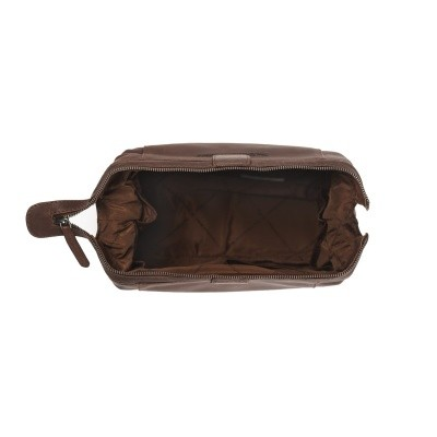 Photo of Leather Toiletry Bag Brown Vince