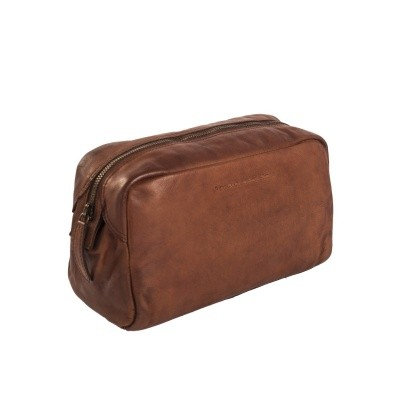 Leather Toiletry Bag Black Label Cognac Brisbane