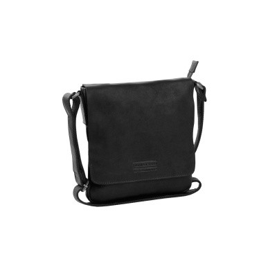 Leather Shoulder Bag T10 Black Thomas Hayo