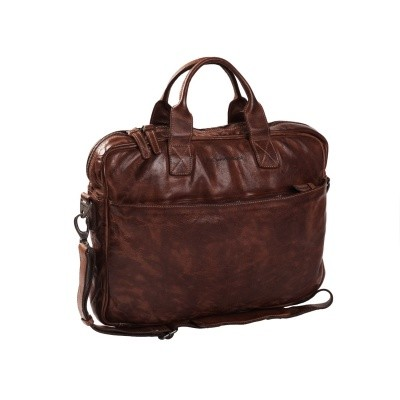 Photo of Leather Laptop Bag Brown Antwerp