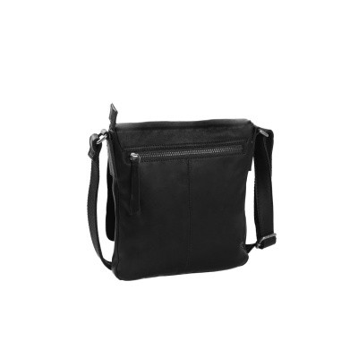 Photo of Leather Shoulder Bag T10 Black Thomas Hayo