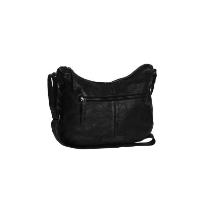 Leather Shoulder Bag Black Fran
