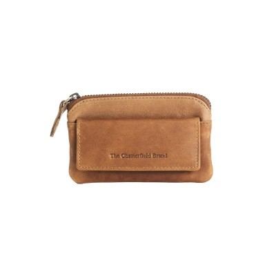 Leather Key Pouch Cognac Oliver