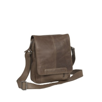 Leather Shoulder Bag Taupe Remy