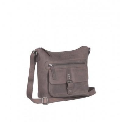 Leather Shoulder Bag Taupe Celyne