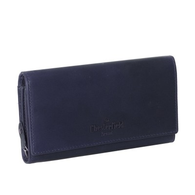 Leather Wallet Navy Mirthe