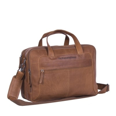 Leather Laptop Bag Cognac Ryan