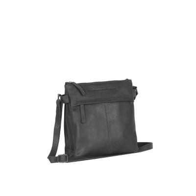 Leather Shoulder Bag Black Stella