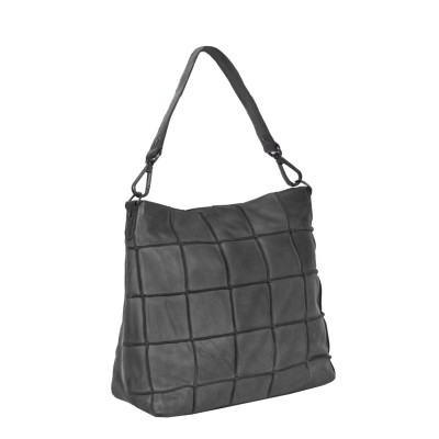 Leren Medium Hobo Antraciet Lynn