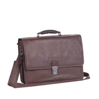 Photo of Leather Laptop Bag Brown Shay