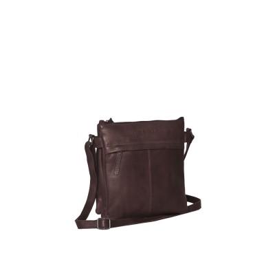 Leather Shoulder Bag Brown Ava