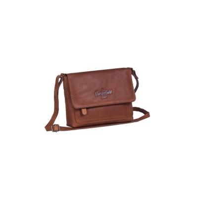 Leather Shoulder Bag Cognac Brooke