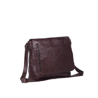 Leather Shoulder Bag Brown Maeve