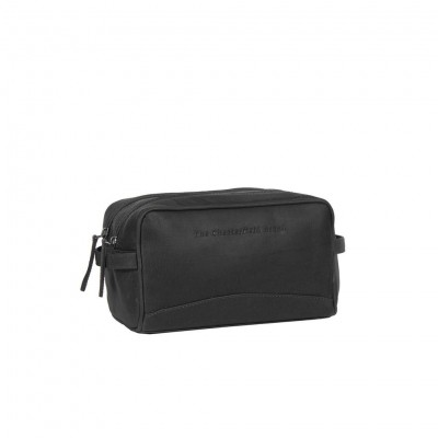 Leather Toiletry Bag Black Stefan