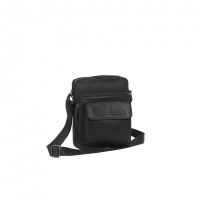 Leather Shoulder Bag Black Bath