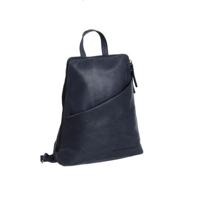 Photo of Leather Backpack Navy Claire