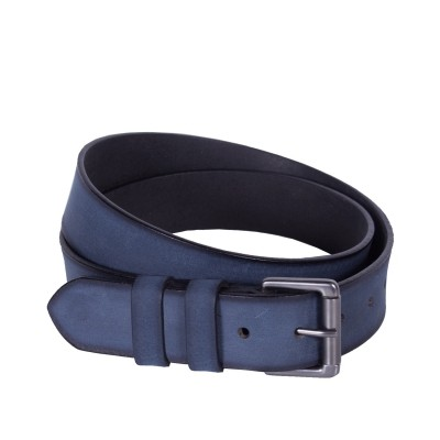 Leather Belt Milan Navy