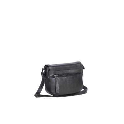 Photo of Leather Shoulder Bag Black June