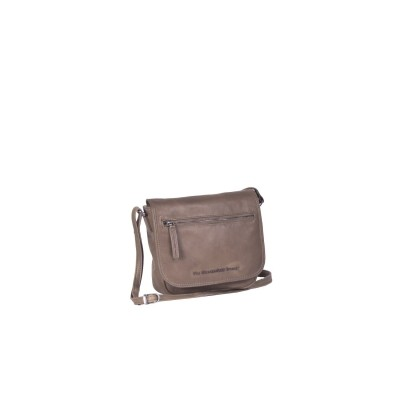 Leather Shoulder Bag Taupe Cis