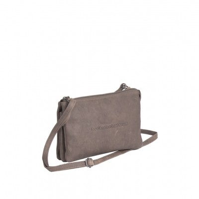 Photo of Leather Shoulder Bag Taupe Sadie