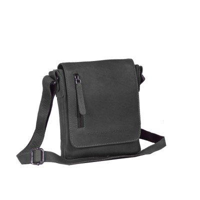Leather Shoulder Bag Black Kian
