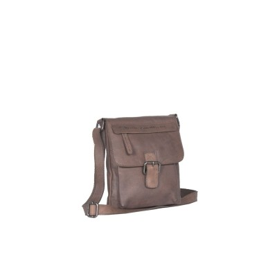 Leather Shoulder Bag Taupe Saskia