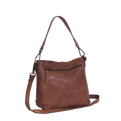 Photo of Leather Shoulder Bag Cognac Cadi