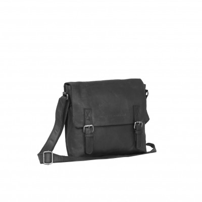 Photo of Leather Shoulder Bag Black Bay