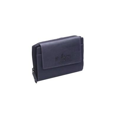 Leather Wallet Navy Ascot