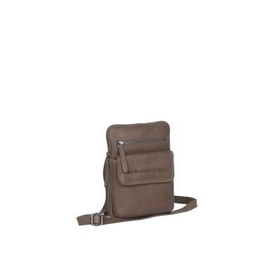 Leather Shoulder Bag Taupe Lou