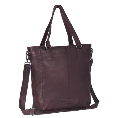 Photo of Leather Tote Bag Brown Jade